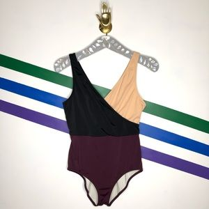 Solid & striped Colorblock swimsuit